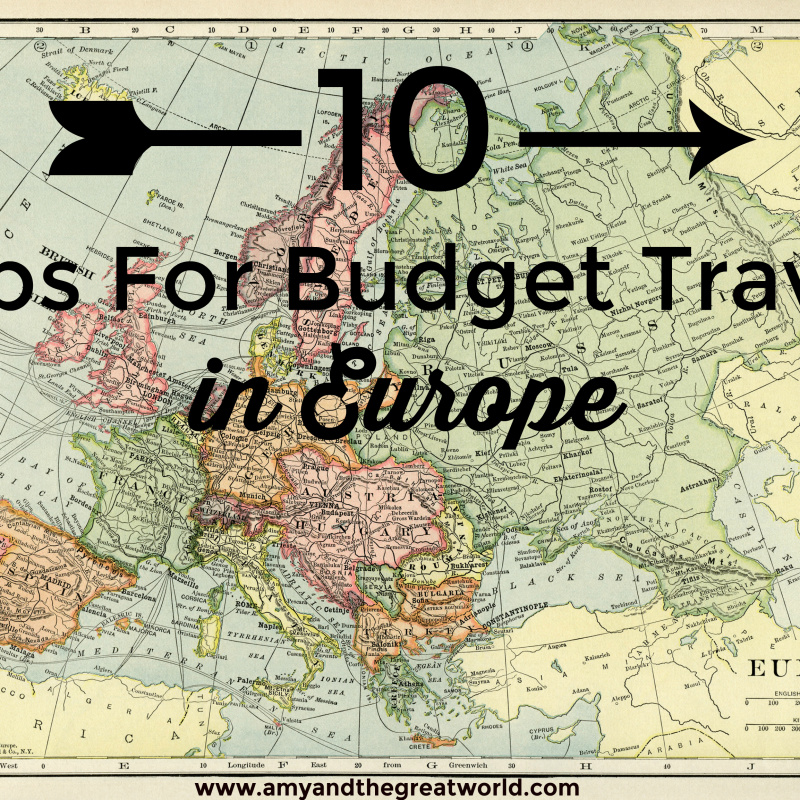 europe map budget tips